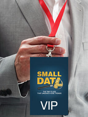 Hand holding a Small Data VIP credential