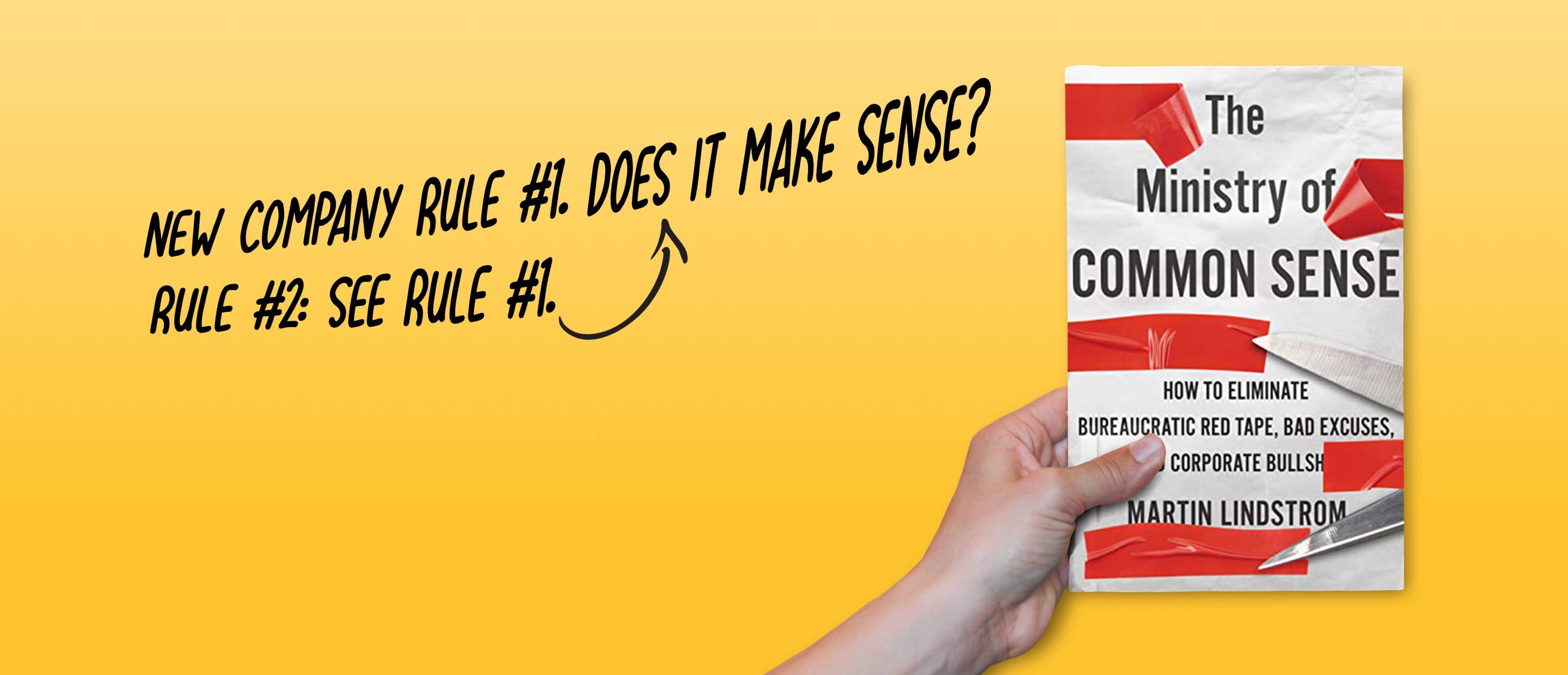 Banner for The Ministry of common sense - Martin Lindstrom Book